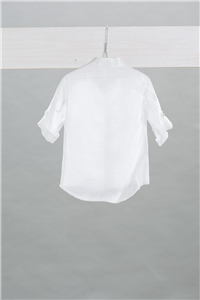 SHIRT MAO LINEN WHITE