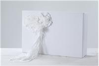"""BAPTISM BOX """"WHITE ROSSETTES"""""""