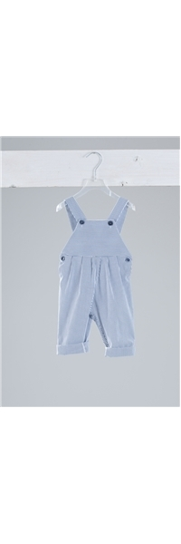 DUNGAREES LINEN WITH WHITE-BLUE STRIPES