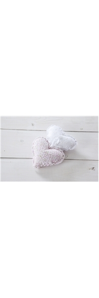 "FABRIC BOMBONIERE FLORAL PILLOW ""HEART"""