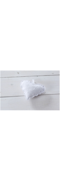 "FABRIC BOMBONIERE BIG BRODERIE PILLOW ""HEART"""