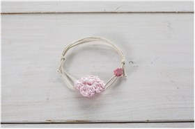 "BAPTISM JEWELLERY ""KNITTED FLOWER"""