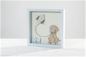 "WOODEN FRAME ""DOG"" SUGAR N' SPICE"