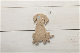 "WOODEN BOMBONIERE ""DOG"""
