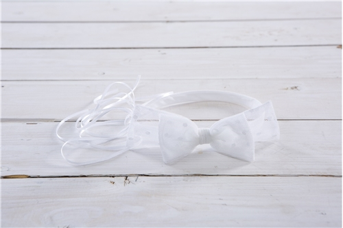 BAPTISTIC WREATH TULLE BOW