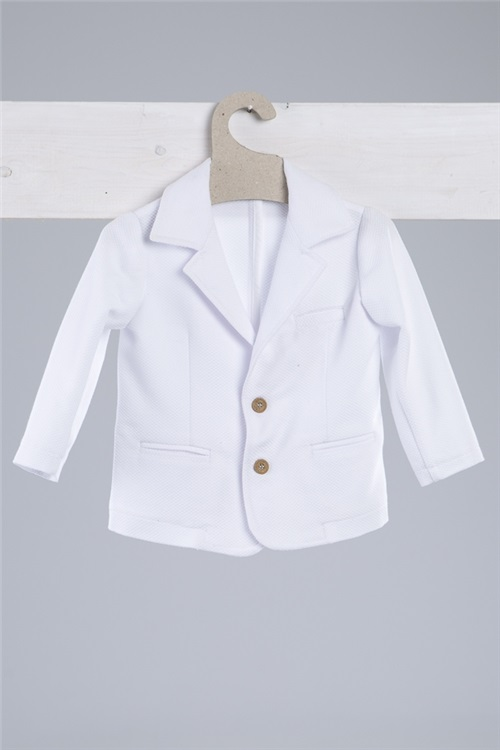 JACKET PIQUET WHITE