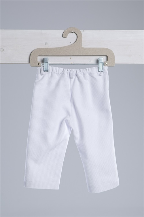 TROUSERS PIQUET WHITE