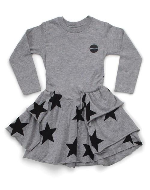 Φορεμα Γκρι με αστερια NUNUNU