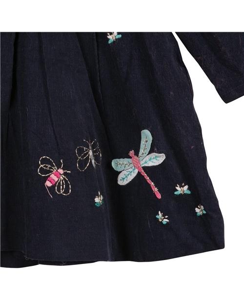 Φορεμα μπλε με Κεντημα CATIMINI