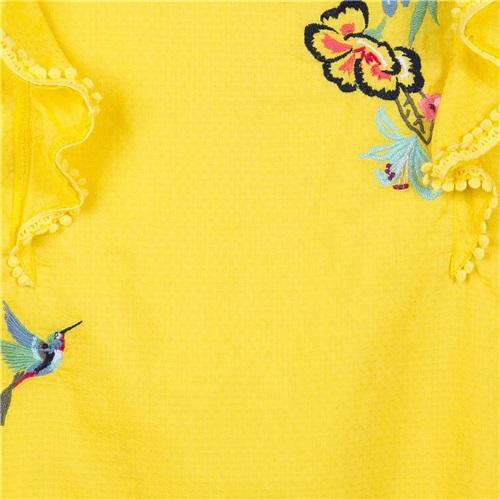Φορεμα με Πουλακι κ Λουλουδια Catimini CATIMINI