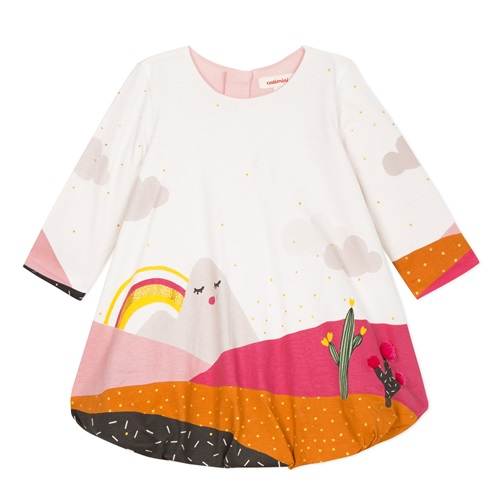 DRESS WITH SHAPES CATIMINI