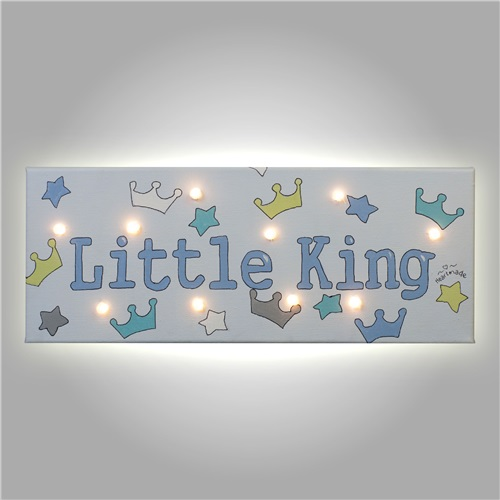"PAINT WITH LED ""LITTLE KING"" HEARTMADE"