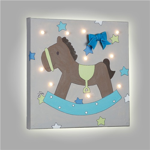 "PAINT WITH LED ""ROCKING PONY"" HEARTMADE"