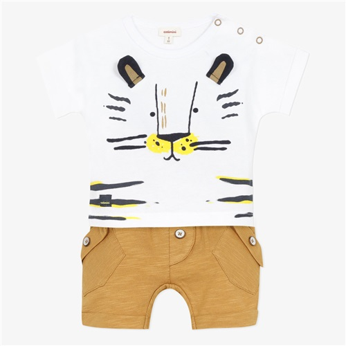 "SET SHORTS-T-SHIRT ""TIGER"" CATIMINI"