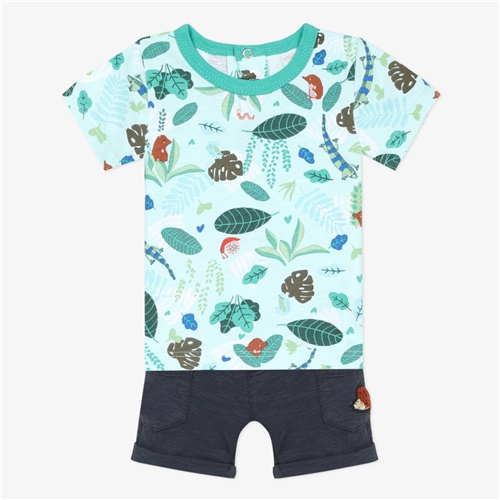 "SET T-SHIRT-SHORTS ""FOREST"" CATIMINI"