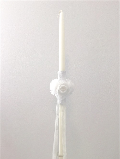BAPTISM CANDLE FLOWERS