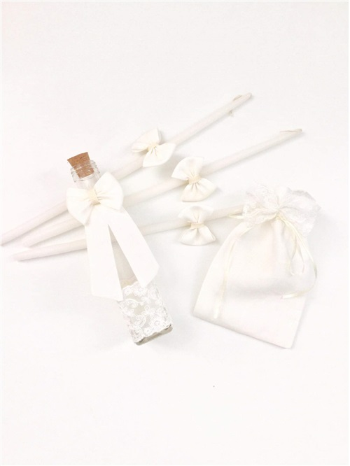 OIL BAPTISM SET OFF WHITE WITH LACE