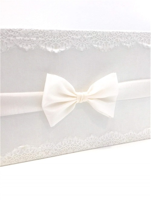 BAPTISM BOX WITH ORGANDIE BOW