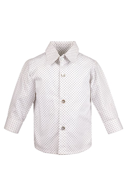 SHIRT OXFORD GREY DOTS