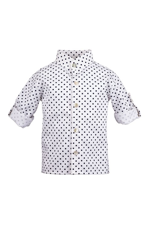 SHIRT MAO COTTON WITH DOTS