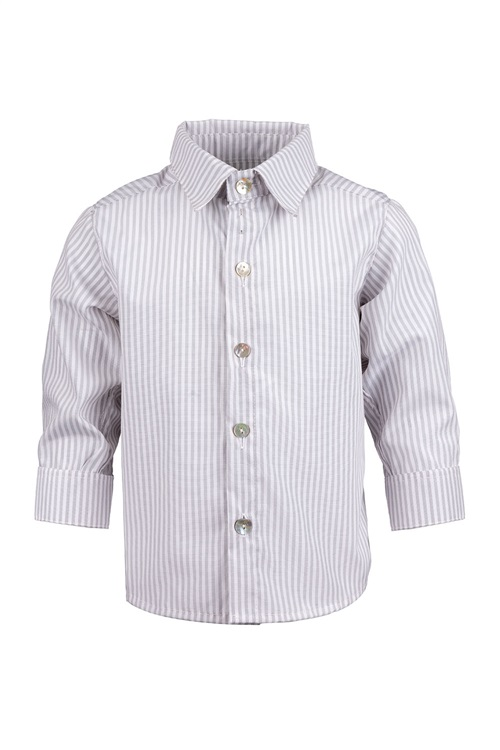 SHIRT OXFORD STRIPED WHITE-GREY