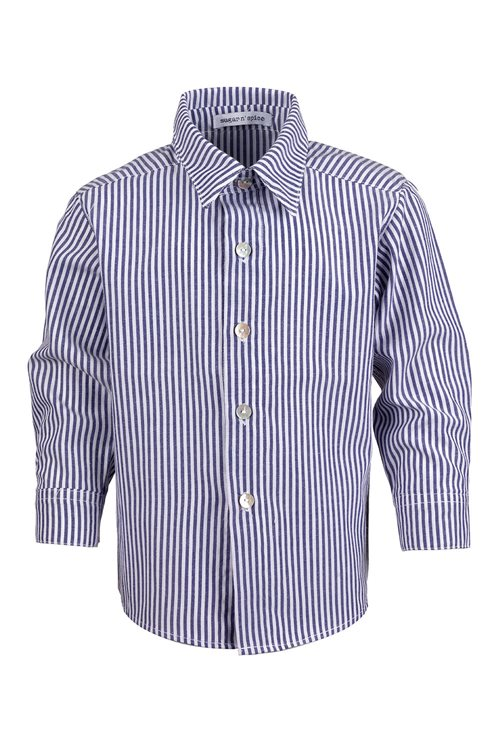 SHIRT OXFORD COTTON WITH WHITE-BLUE STRIPES