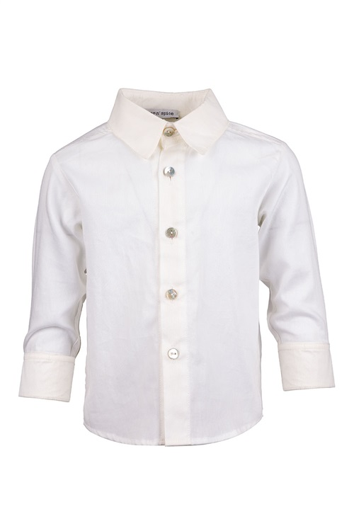 WHITE PIQUET SHIRT