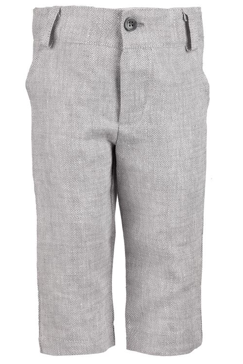 TROUSERS GREY 'HERRINGBONE''