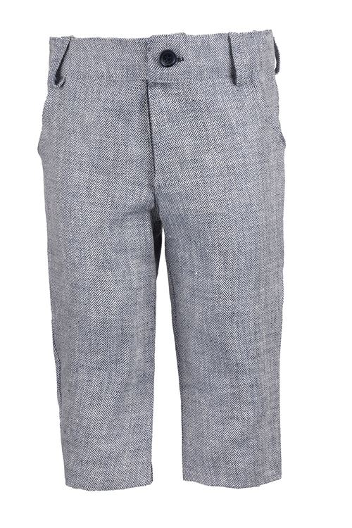 TROUSERS BLUE ''HERRINGBONE''