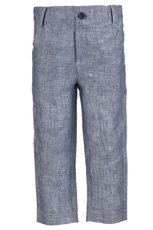 TROUSERS LINEN BLUE