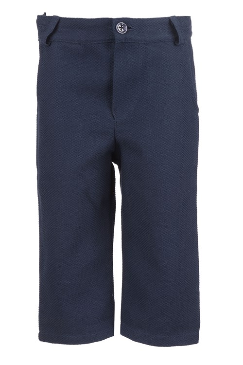TROUSERS PIQUET BLUE
