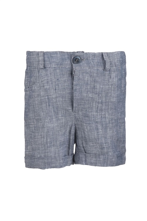 BERMUDA SHORTS LINEN BLUE