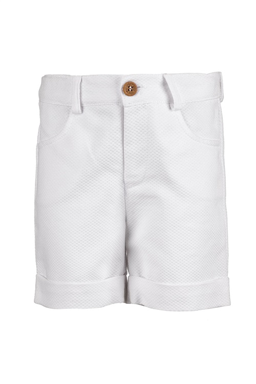 BERMUDA SHORTS PIQUET WHITE