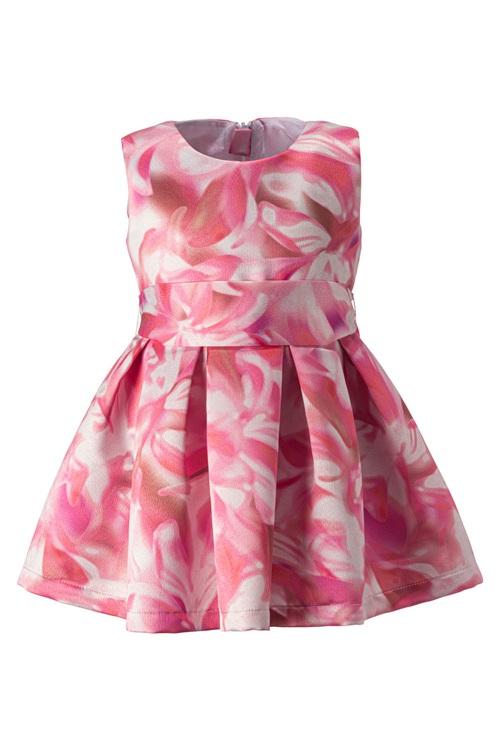 PINK-WHITE FLORAL DRESS
