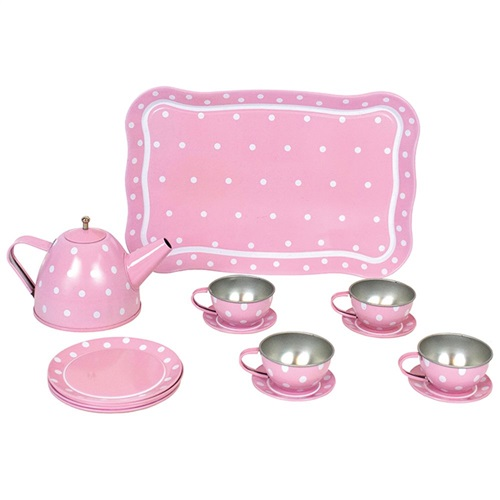 TEA SET WITH CASE PINK JABADABADO