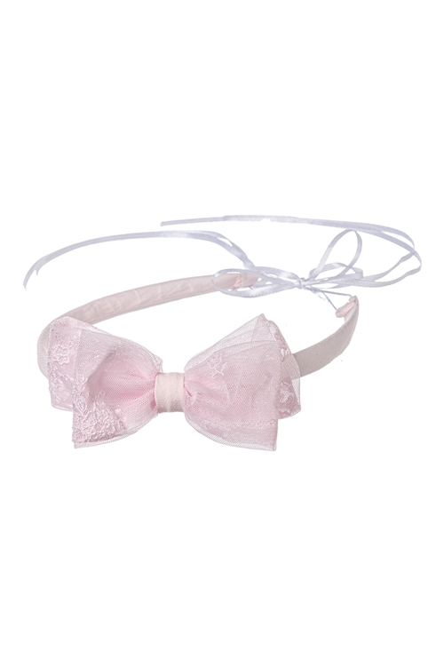 BAPTISTIC WREATH PINK BOW