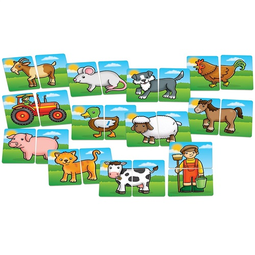 FARMYARDS HEADS AND TAILS GAME ORCHARD TOYS