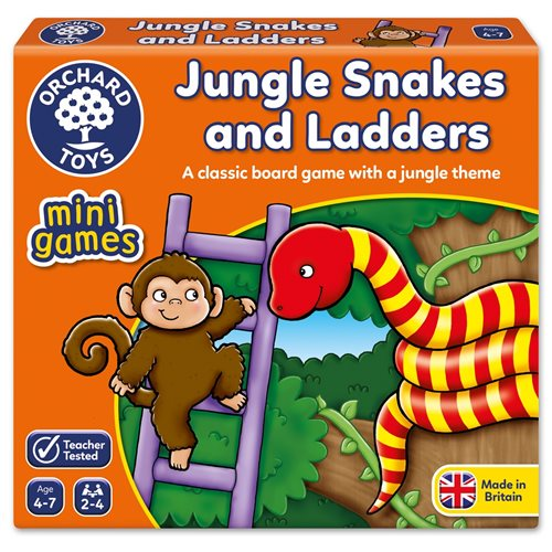 JUNGLE SNAKES AND LADDERS ORCHARD TOYS