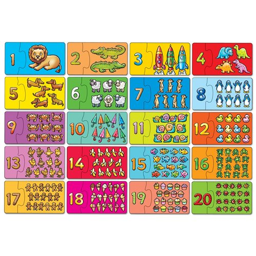 PUZZLE WITH NUMBERS ORCHARD TOYS