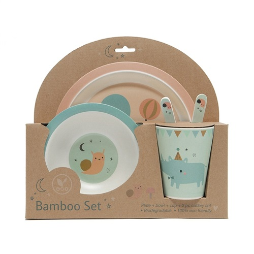 "DINNER SET BAMBOO ""PEACH"" PETIT MONKEY"