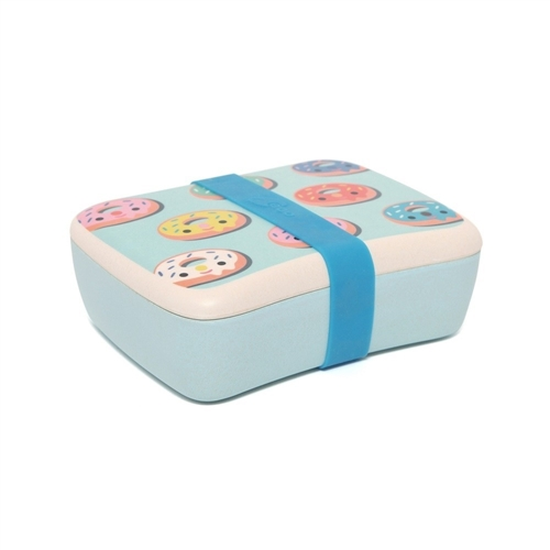 "BAMBOO LUNCHBOX ""DONUTS BLUE"" PETIT MONKEY"