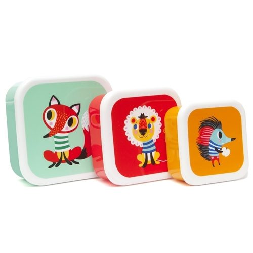 "LUNCH BOX SET ""ANIMALS"" PETIT MONKEY"