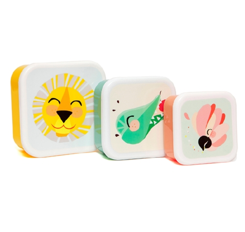 "LUNCH BOX SET ""LION"" PETIT MONKEY"