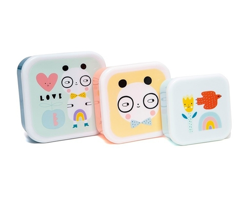 "LUNCH BOX SET ""PANDA"" PETIT MONKEY"