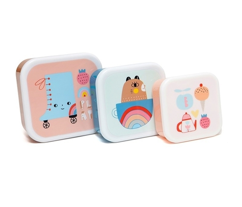 "LUNCH BOX SET ""SKATE"" PETIT MONKEY"