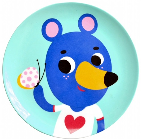 "PLATE ""BLUE BEAR"" PETIT MONKEY"