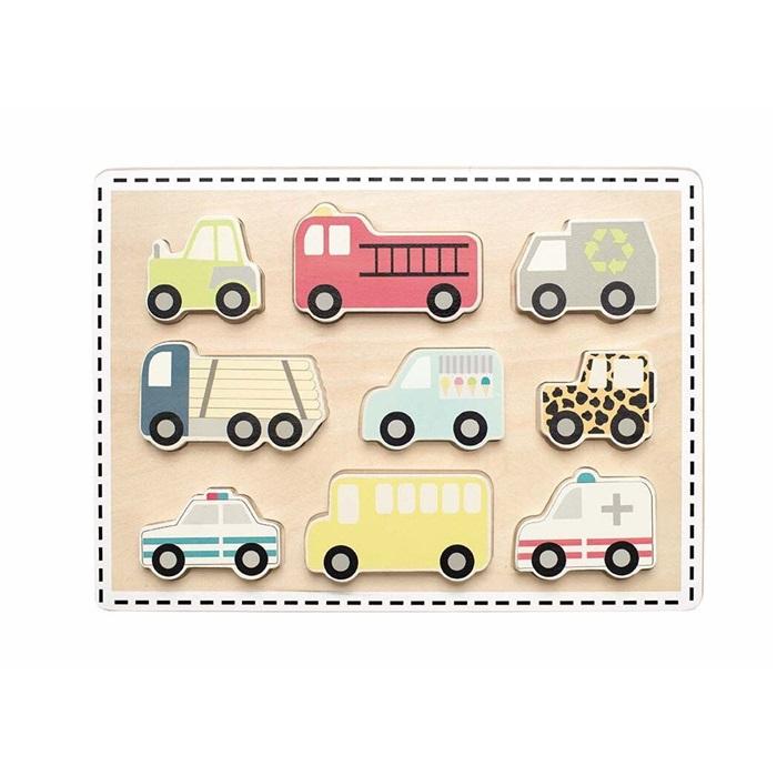 WOODEN PUZZLE WITH CARS JABADABADO
