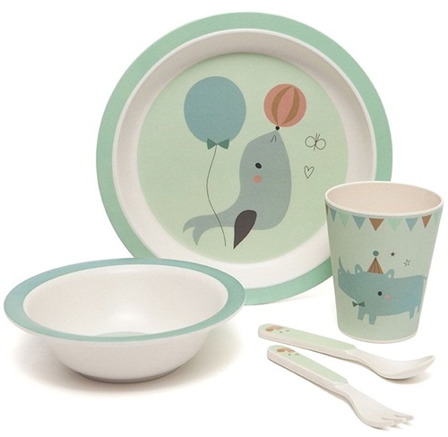 "DINNER SET BAMBOO ""CELANDON"" PETIT MONKEY"