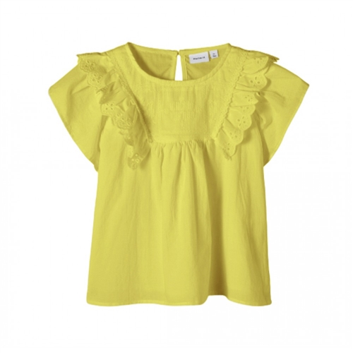 T-SHIRT YELLOW BRODERIE NAME IT