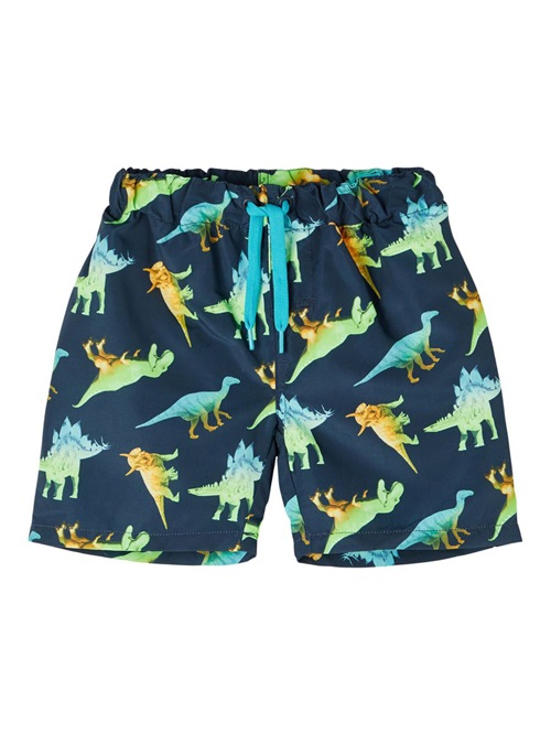 DINOSAUR PRINT SWIM SHORTS NAME IT